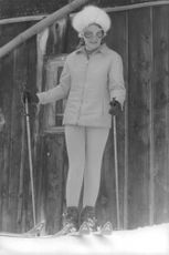 Princess Irene of the Netherlands skiing.