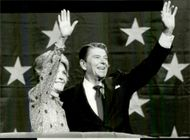US President Ronald Reagan and his wife Nancy