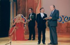 Swedish photo model Victoria Silvstedt in TV show