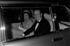 Queen Elizabeth II headed to the EEC headquarters with Roy Jenkins