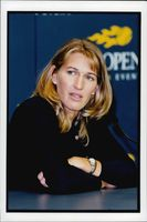 Portrait image of Steffi Graf taken during her last participation in the US Open.