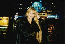Tennis player Anna Kournikova outside the Planet Hollywood restaurant
