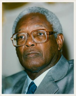 Portrait of Guyanan Politicians and President Desmond Hoyte.