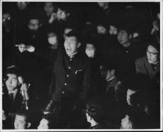 """Robert Francis """"Bobby"""" Kennedy in crowded place."""