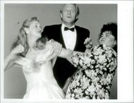 """The actors Meryl Streep, Ed Begley and Roseanne Barr in the movie """"The Life and Desires of a She Devil"""""""