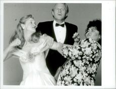 "The actors Meryl Streep, Ed Begley and Roseanne Barr in the movie ""The Life and Desires of a She Devil"""