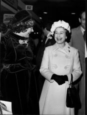 Queen Elizabeth visits the Ideal Home exhibition