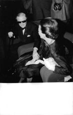 The Duke and Duchess of Windsor enjoying each other`s company at a party.