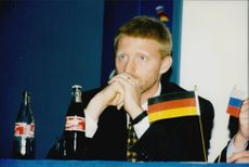 German tennis player Boris Becker during a press conference.