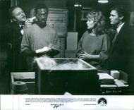 Michael Campbell, Eddie Murphy , Lisa Eilbacher and Judge Reinhold,  in