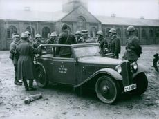 Soldiers and army vehicles