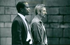 Still of Richard Gere and Sidney Poitier in The Jackal.