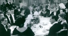 """A photo of gathering in the film """"Titanic"""". 1997."""