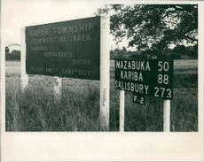 Kafue Township Commercial area sign