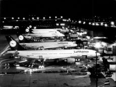 Article image of parts of Lufthansa night-parked fleet.
