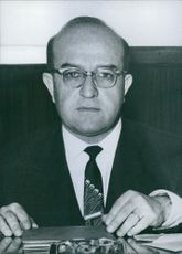 Portrait of Turkish politician, Nihat Su, 1962.