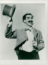 Portrait of American comedian Groucho Marx
