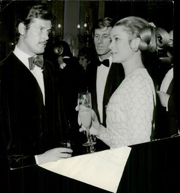 Roger Moore, Edward Meeks and Princess Grace of Monaco at Monte Carlos TV Festival