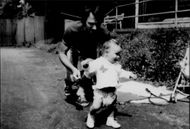 10 month old Martina Hingis with her father Karol