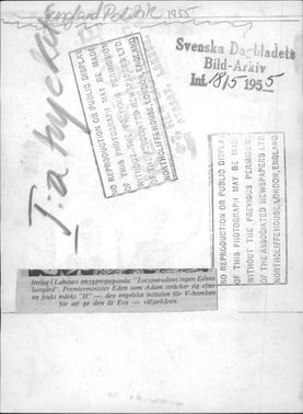 Imprint of Labor's smygpropaganada in the form of a newspaper illustration.