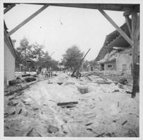 Destruction in Finland due to the battle, 1942.