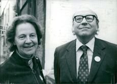 Roy Harris Jenkins with his wife, 1975.