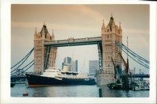 Ship britannia,tower bridge.