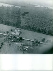 Aerial view of rural area in Bordeaux. Photo taken on October 5, 1959.