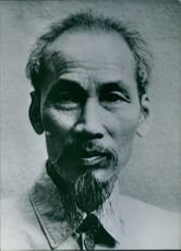 Close up of former President of Democratic Republic of Vietnam Ho Chi Minh