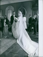 Carl, Duke of Württemberg, and Princess Diane wedding picture. 1960.