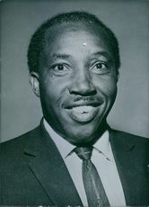Portrait of Kenyan politician, Eliud Ngala Mwendwa.