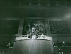Willy Brandt, during his speech.