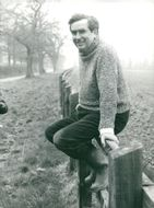 Denis Healey at his home in Sussex Downs