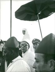 Mehdi Ben Barka in a rally.