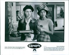 """Alicia Silverstone and Stacey Dash in the film """"Clueless"""", 1995."""