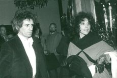 Keith Richards on an event together with girlfriend Patty