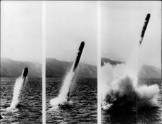"Fires of the US Navy's Cruise missile ""Fear"" from a submarine"