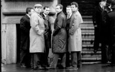 A group of KGB officers visiting London.