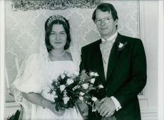 The wedding of Prince Christian Sigismund and Countess Nina Zu Reventlow, 1985.