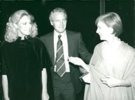Joan Kennedy with Paul Newman and his wife Joanne Woodward at the theater