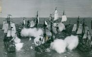 Öland's heroic battle 1704 against a superior English strength at the Maritime Museum
