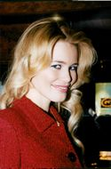 Claudia Schiffer on a visit to Moscow