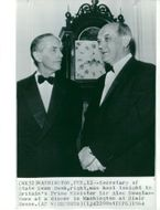 British Prime Minister Sir Alec Douglas-Home, together with Secretary of State Dean Rusk