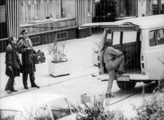 Article image from a bank robbery in Germany.
