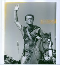 Kirk Douglas stars as the lead role in the film, Spartacus.