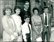 John Habgood with his family