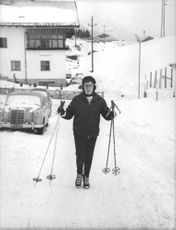 Princess Alexandra, The Honourable Lady Ogilvy going for ice skating, 1962.