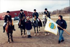 Princess Madeleine and the rest of the prize-winners at Stockholm's field trekking club.
