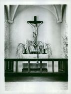 The altar in the Sigtuna Foundation's chapel