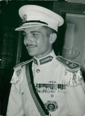 King Hussein of Jordan dressed in paraduniform style